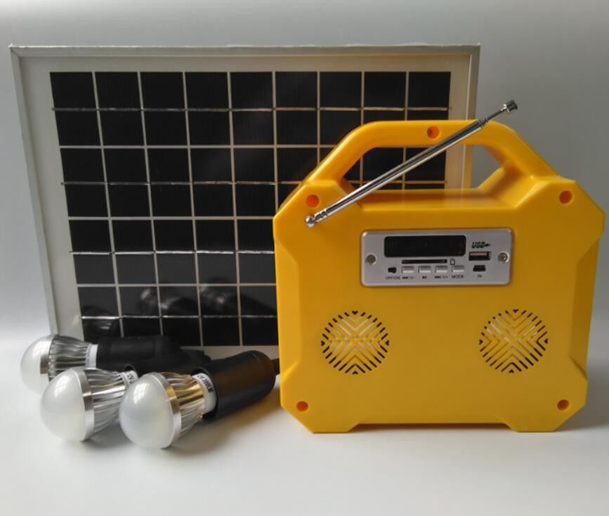 Camping Small Solar Panel Light Kit Off Grid Solar Power Systems Led Screen - Download Small Solar Power System Kit PNG